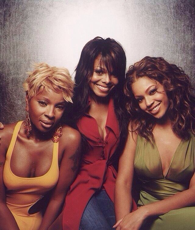 Beyonce, Janet Jackson, and Mary J Blige