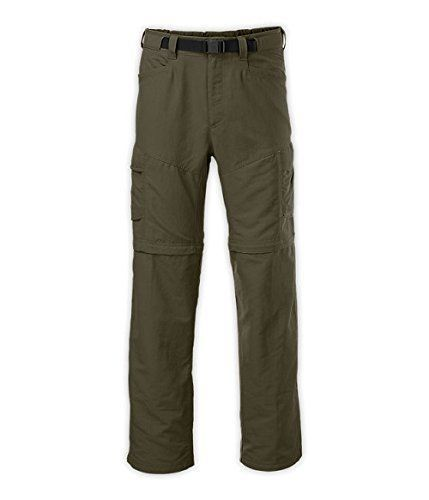 North Face Green Convertable Pants Paramount Peak Hike Men Large +-36 x 29 $80 #TheNorthFace