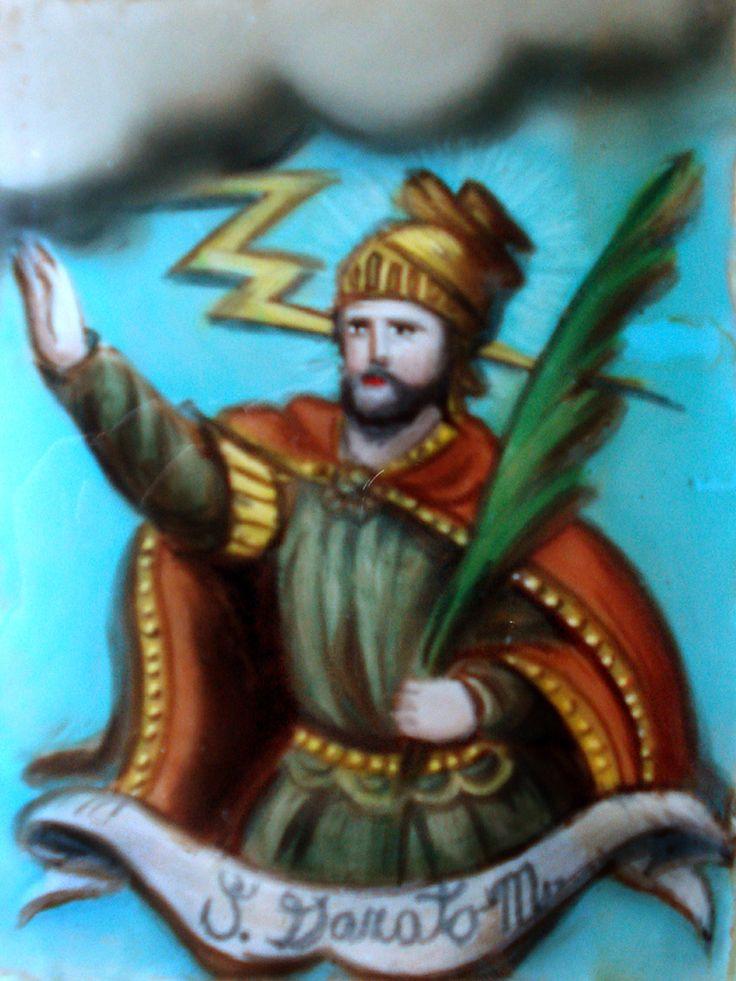S. DONATO Pittura su vetro CM 40X30