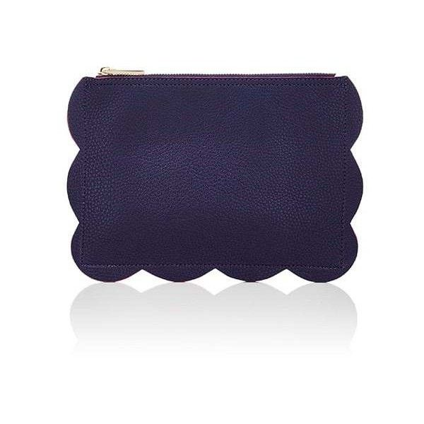 Deux Lux Women's Leyla Pouch ($29) ❤ liked on Polyvore featuring bags, handbags, clutches, navy, navy blue handbags, navy purse, faux purses, full grain leather handbags and deux lux purse