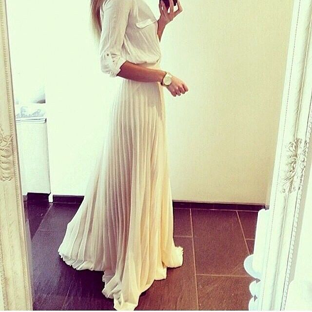 pleated maxi skirt!