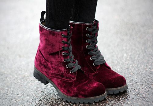 pretty red cute fashion shoes beautiful style hipster indie black Grunge lovely outfit Clothes Boots stylish punk sweet clothing soft goth HM velvet bordeaux H&M soft grunge burgund