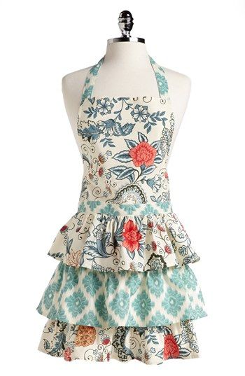Design Imports 'Ikat Flowers' Apron available at #Nordstrom $32.00