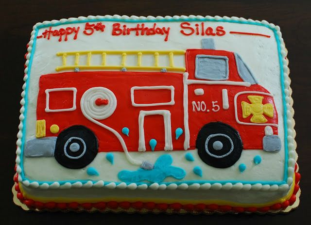 Fire Truck Cake Design : Best 25+ Fire truck cakes ideas on Pinterest Firefighter ...