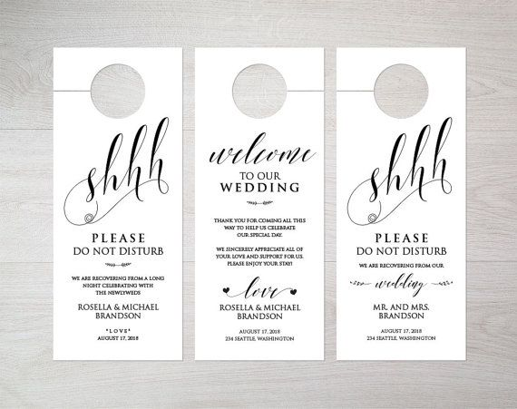 Gorgeous 30+ Wedding Door Hanger Template Design Ideas Of Sample ...
