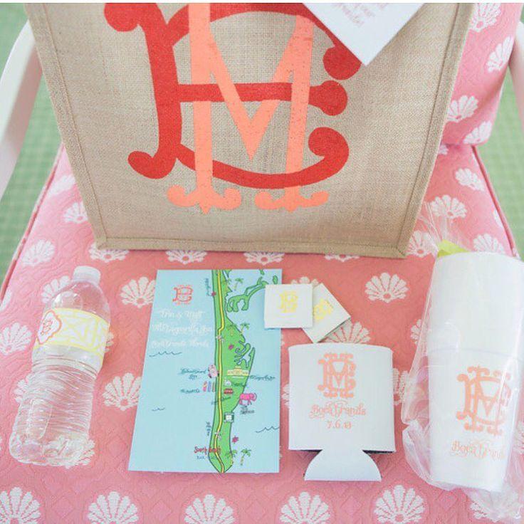 "163 Likes, 6 Comments - Sarah-Allen Preston Designs (@sarahallenpreston) on Instagram: ""Perfectly pink gift bag for a summer wedding 💗"""