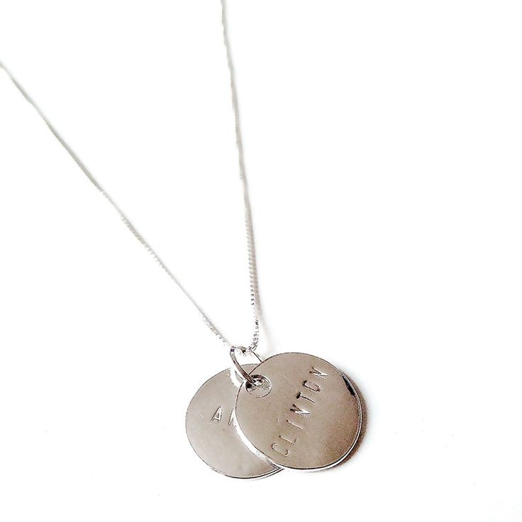 NAME 2 COINS SILVER NECKLACE | Emma Israelsson