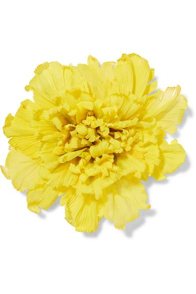 Gucci - Oversized Floral Silk Brooch - Yellow - one size