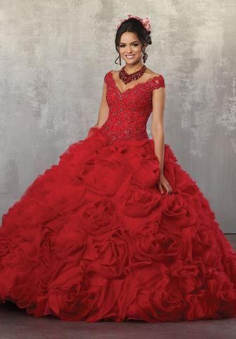b4d1b59296d Off Shoulder Lace Quinceanera Dress by Mori Lee Vizcaya 89168 ...