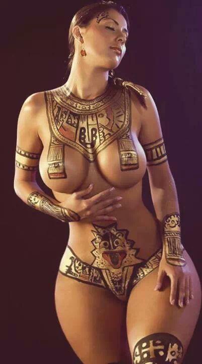 Paint body big sex tits