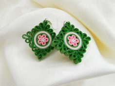 ručne robené Quilling náušnice, Quilling earrings, handmade earrings, Quilling jewelry, handmade jewelry
