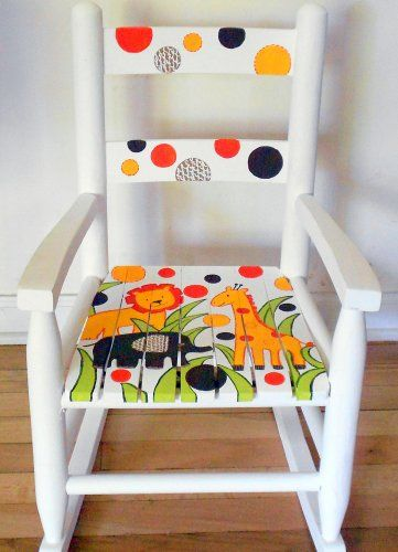 Handpainted Wooden Child's Rocking Chair