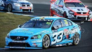 Polestar Volvo V8 Supercar with Scott McLaughlin racing to victory at Sydney Motorsport Park
