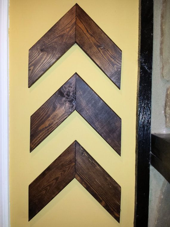 Chevron Arrow Wall Decor - Set of 3. These are beautifully hand ...