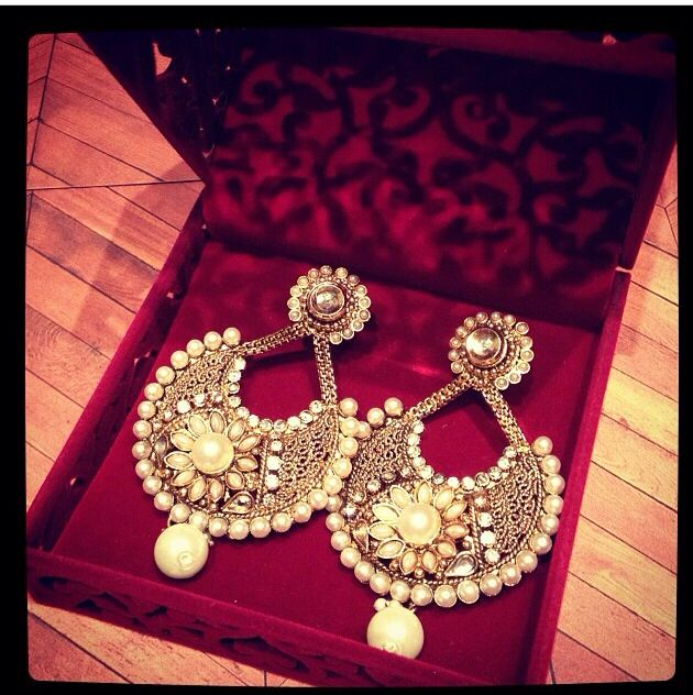 Ram leela movie inspired earrings.