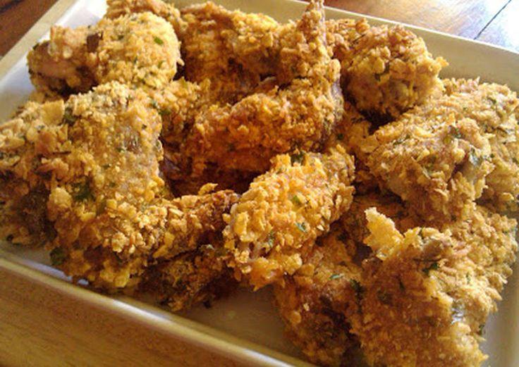 Alitas de pollo crujientes al horno rebozadas en cornflakes Receta de La Cocinera Novata - Cookpad