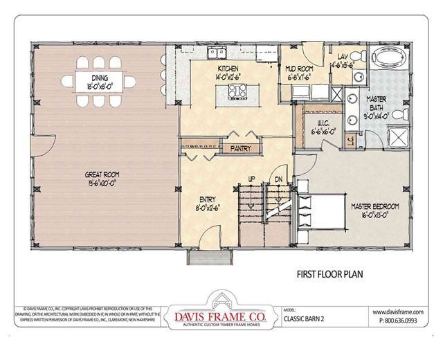 Pole Barn Home floorplan: Classic Barn 2 - Davis Frame 2500sf and love the floorplan!