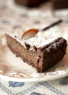 Delirio al cioccolato ~ succulent chocolate cake recipe in Italian