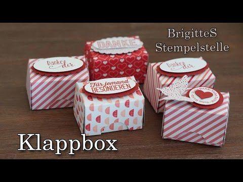 ▶ Klappbox aus einer Seite Designerpapier im Block - YouTube mit Papierschneider