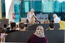Best-selling children's author Julia Johnson at the Waldorf Astoria in Ras Al Khaimah, where she entertained youngsters with a reading from her new book Ubuntu: Summer of the Rhino.