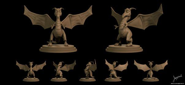 3d model dragon for 3d printing and cnc