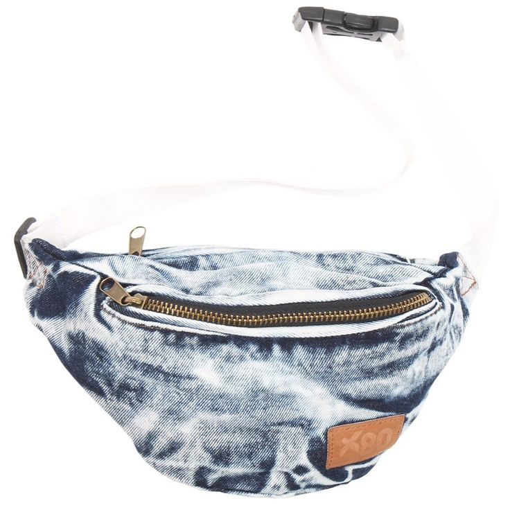 Extreme 80s Vintage Denim Acid Wash Fanny Pack
