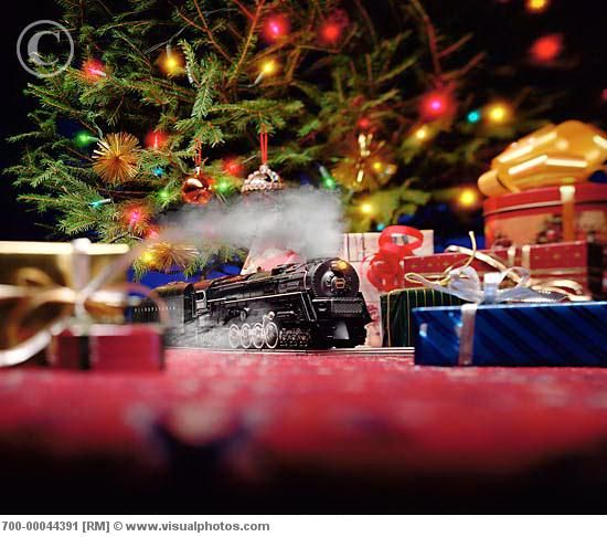 Train Set For Under The Christmas Tree