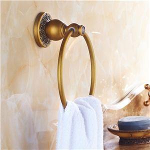 european vintage bathroom accessories antique brass towel ring