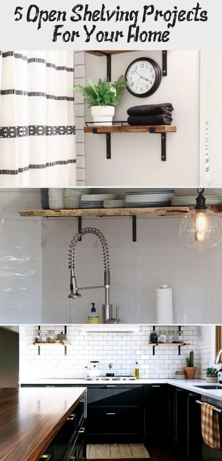 5 Open Shelving Projects For Your Home  – Bedroom Decor