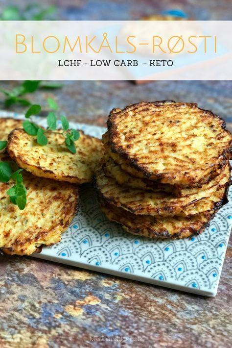 BLOMKÅLS-RØSTI – ca. 15-16 STK 1 stort blomkål (650-700 g) 1 stort løg 175 g fast ost (cheddar, parmesan etc.) 2 æg lidt tørret oregano salt og friskkværnet peber