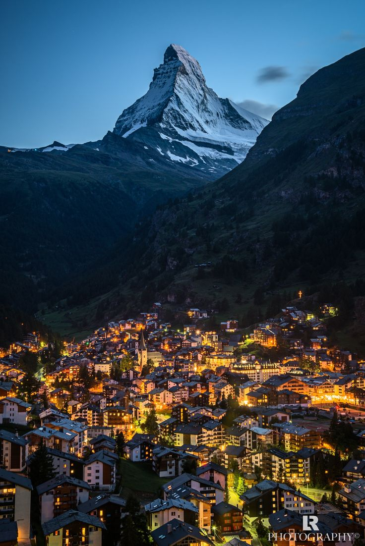 Matterhorn, village of Zermatt - Switzerland