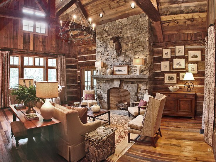 454 best Lodge Style Great Rooms images on Pinterest . Cabin Style Living Room. Home Design Ideas