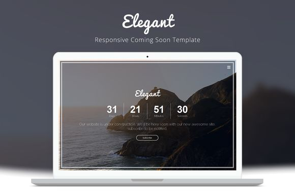 Check out Elegant - Coming Soon Template by Bluminethemes on Creative Market