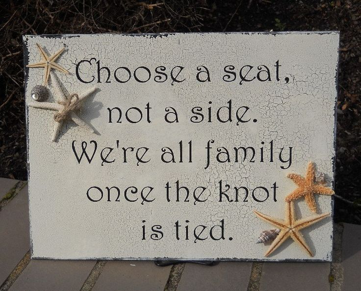 BEACH WEDDING SIGN Choose A Seat Not A Side Sign