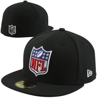 New Era NFL Shield 59FIFTY Fitted Hat - Black
