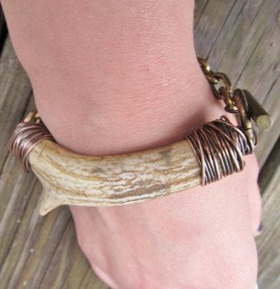 Antler Bracelet Wire Wrapped Bracelet Rustic by daniellerosebean, $72.00