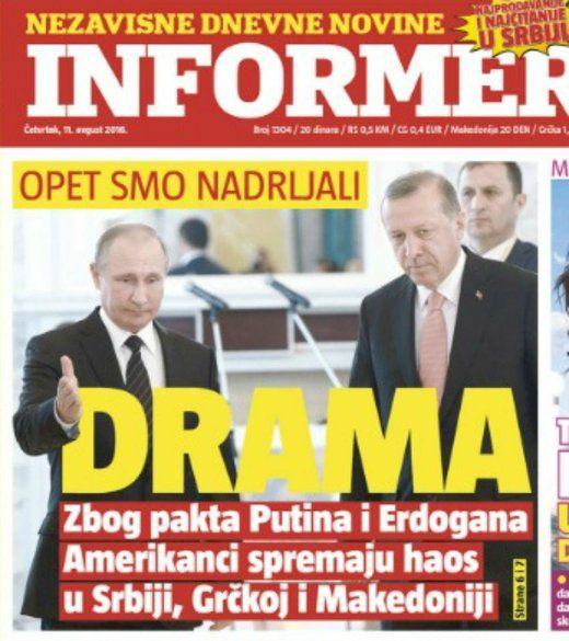 "MINA Macedoniaonline Sat, 13 Aug 2016 20:03 UTC   Serbian daily Informer, citing Russian media has stated the nations of Macedonia, Serbia and Greece are ""screwed"" after the latest pact… https://winstonclose.me/2016/08/15/russian-media-reports-us-preparing-chaos-in-macedonia-serbia-and-greece-to-prevent-turkish-stream-by-mina-macedoniaonline/"
