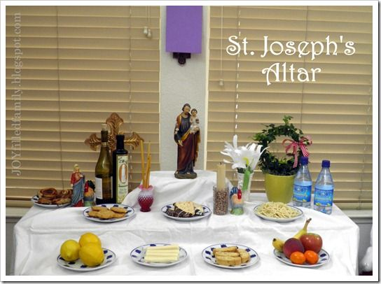 St. Joseph's simple feast day celebration