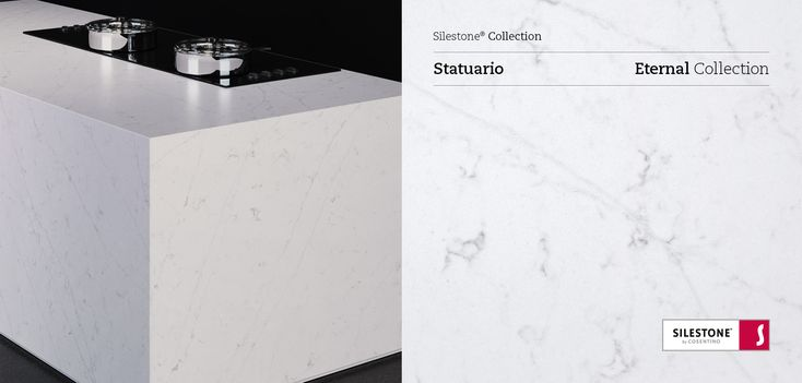 Silestone Eternal Statuario harmoniously combines white and grey tones creating a perfect color for any style. #interiordesign #design