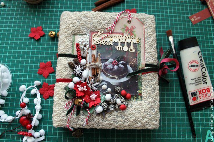 Как сделать зимнюю кулинарную книгу на пружине с закрытым переплетом - Ярмарка Мастеров - ручная работа, handmade