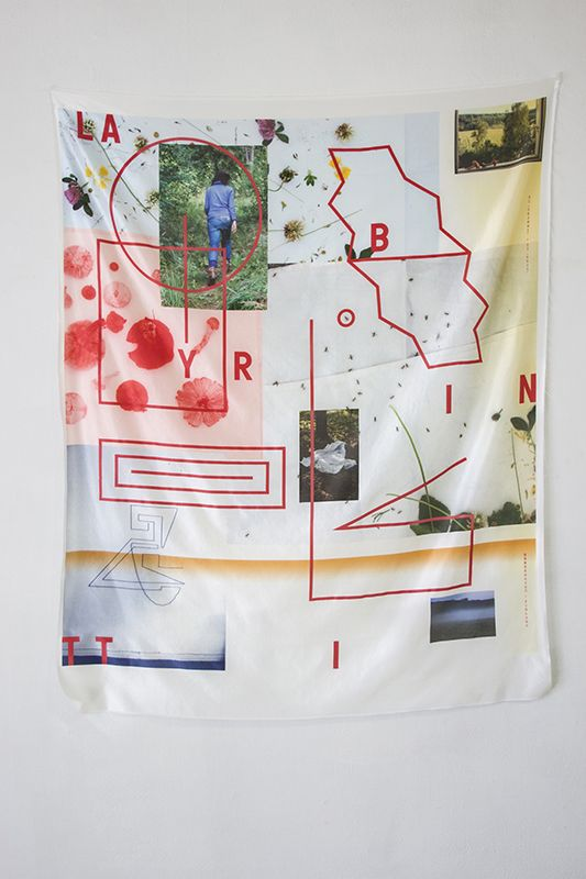 fyeahwomenartists: Jesse Moretti Labyrintti 6 - Tapestry (2013) Silk, digital print.