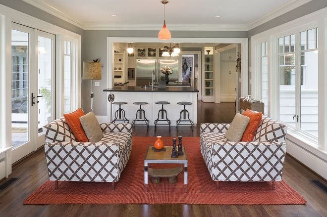 transitional pass through to family living room - Google Search