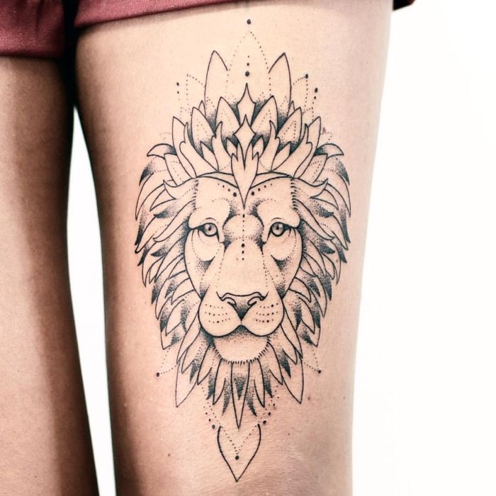 les 25 meilleures id es de la cat gorie tatouage signe du lion sur pinterest tatouages de. Black Bedroom Furniture Sets. Home Design Ideas