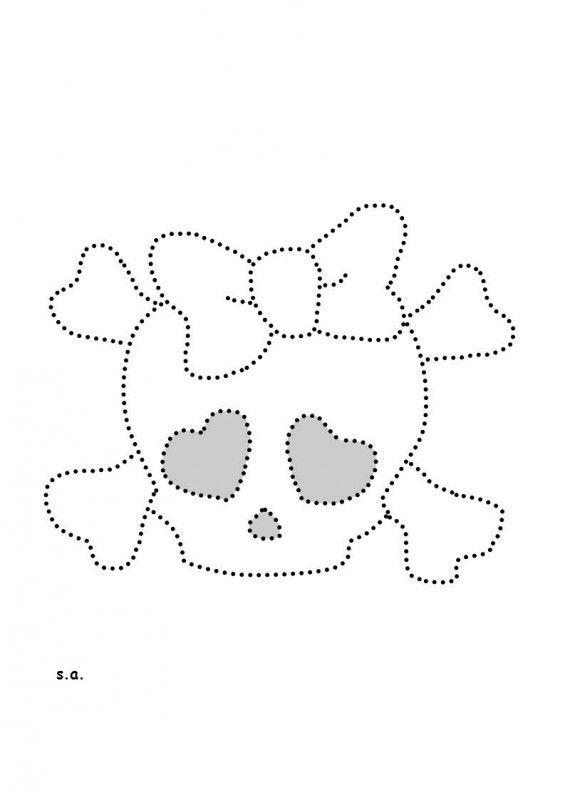 doodshoofd skull met strik ss6