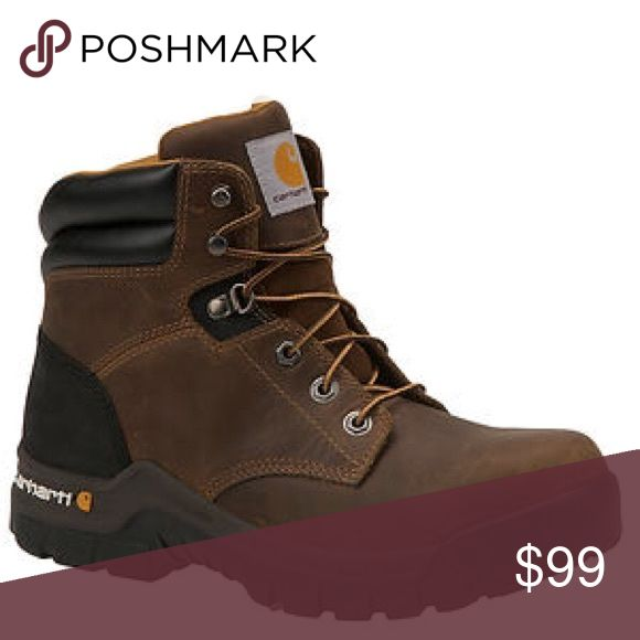 Carhartt Men's CMF6366 6-Inch Brown Work Boot Carhartt Men's CMF6366 6-Inch Brown WorkFlex® Work Boot  - Composite Toe - Go seamlessly from work to woods in this durable boot. There is full grain leather upper with tie closure. Generously padded tongue and collar. Lightweight EVA midsole and OrthoLite® insole give you multiple layers of cushioning. Flexible rubber Rugged Flex™ sole is oil-, chemical- and slip-resistant. Outsole features self-cleaning lug tread for multi-surface traction…