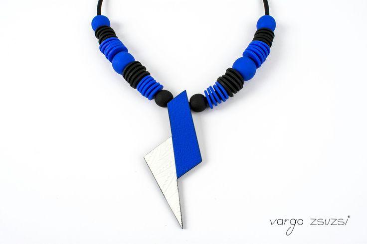 Flash polymer clay necklace Villám süthető gyurma nyaklán Cernit, texture, suthetogyurma