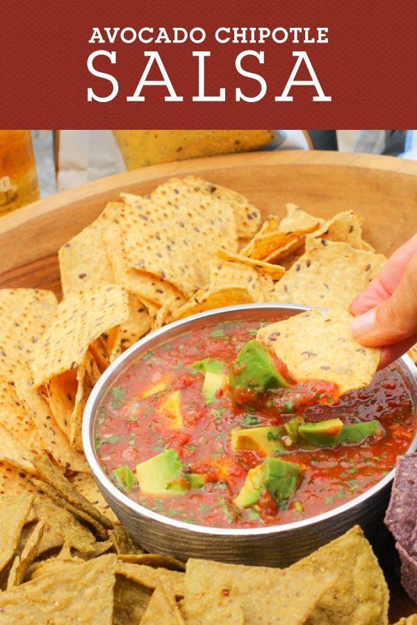 Avocado Chipotle Salsa is the perfect appetizer for grilling and outdoor BBQ's. The smokey salsa is balanced with creamy avocado for a flavorful salsa your tastebuds are sure to remember.