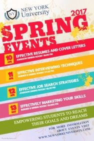 Spring Event Schedule Poster Template