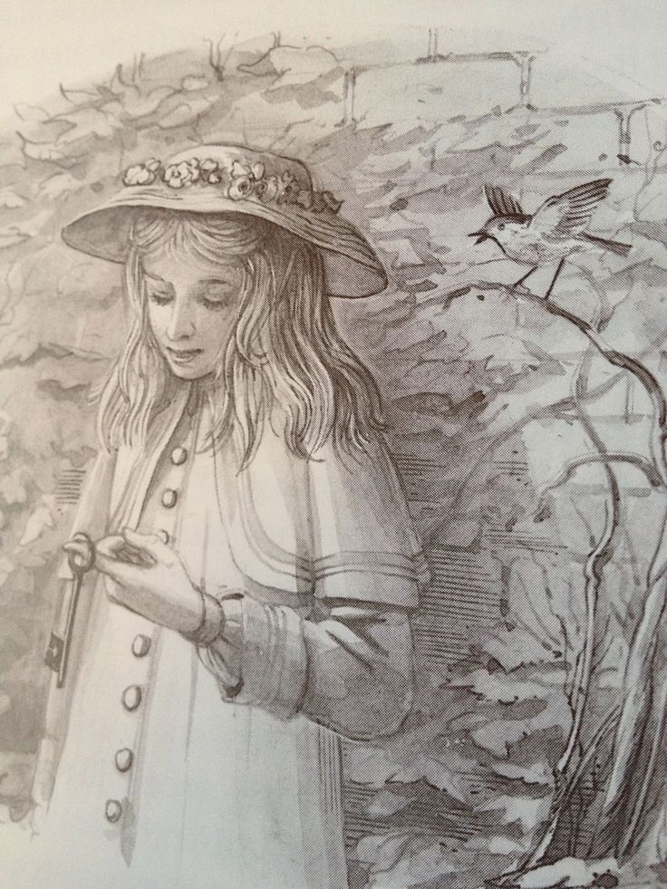 """The Secret Garden ✿⁀° """"In India she had always felt hot and too languid to care much about anything. The fact was that the fresh wind from the moor had begun to blow the cobwebs out of her young brain and to waken her up a little.""""  Frances Hodgson Burnett, / illustrated by Graham Rust"""