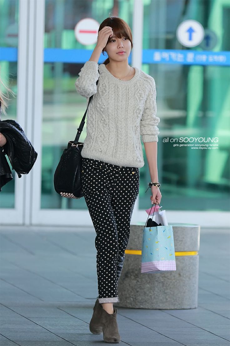 snsd sooyoung korean stars airport fashion casual